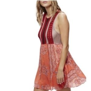 Free People Crochet Katie Mini Dress